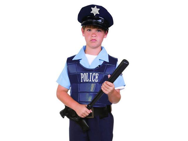 Police Dress Up - Vest And Hat