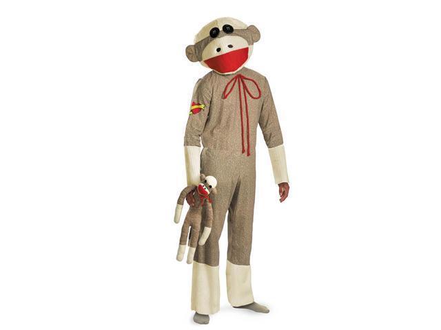 Deluxe Sock Monkey Men's Costume