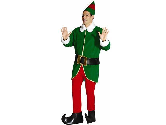 Green and Red Elf Adult Costume