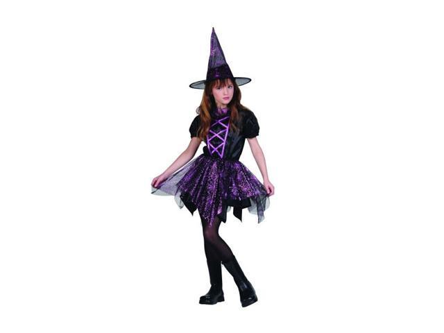 Childs Glitter Spider Witch Costume