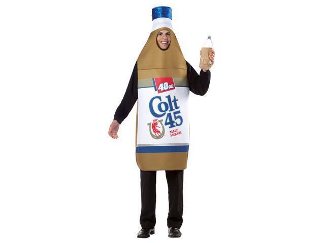 Mens Colt 45 40oz. Beer Bottle Costume