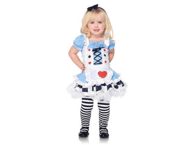2Pc Little Miss Alice Wonderland Girl's Cute Kids Costumes