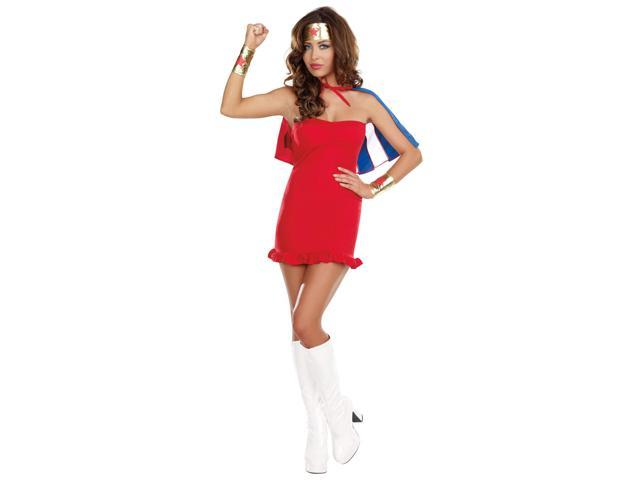 She's My Hero Sexy Superhero Costume Kit Adult One Size