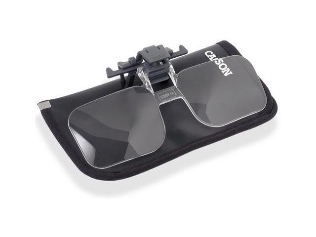 Carson Clip & Flip 2x Power (+4.00 Diopters) Clip-On, Flip-Up Magnifying Lenses