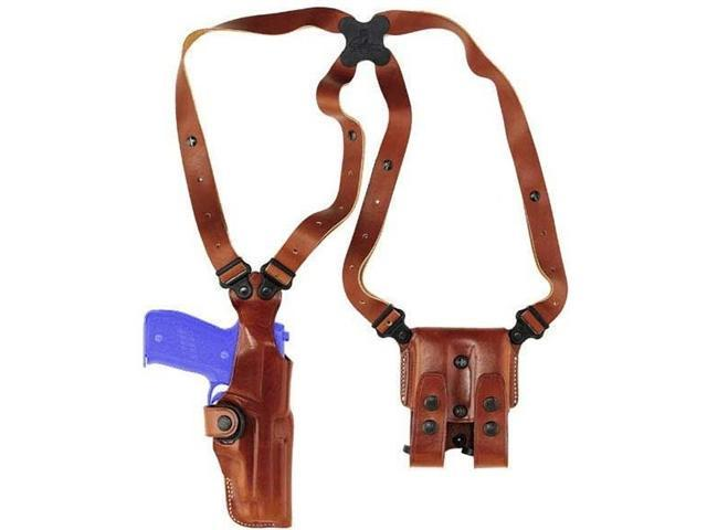 Galco Vertical Shoulder Holster System - Ambidextrous - Tan VHS126