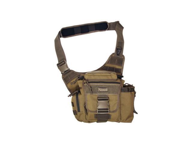 Maxpedition Jumbo S-Type Versipack Nylon Shoulder Bag - Khaki - Foliage 0413KF
