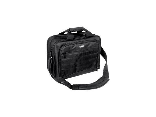 Leapers UTG Ultimate Computer Bag, 4 Main & 2 Aux Pockets, Black PVC-PC28B