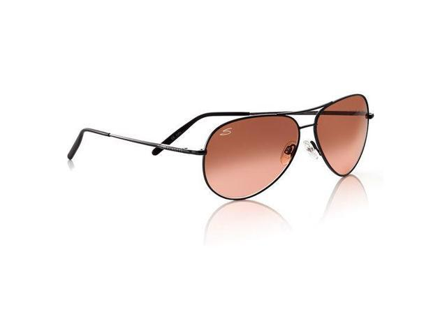 Serengeti Henna Frame / Drivers Gradient Lens Aviator Sunglasses, Medium