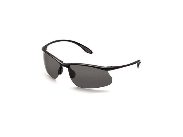 Bolle Kicker Action Sport Sunglasses, Shiny Black Frame, Polarized TNS Lens 1143