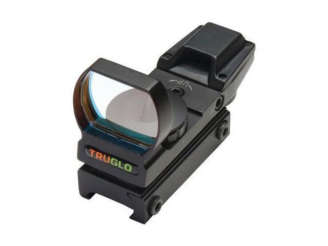 TruGlo Open Red-Dot Sight Red/Green Illuminated Multi-Reticle Matte Black