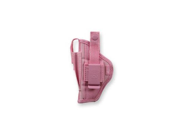 Bulldog Cases Extreme Belt and Clip Ambi Holster, Pink - Sub Compact Autos w/ 2-