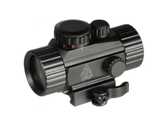 New, Leapers UTG 4in Compact ITA Red-Green Target Dot Sight w/Integral QD Picati