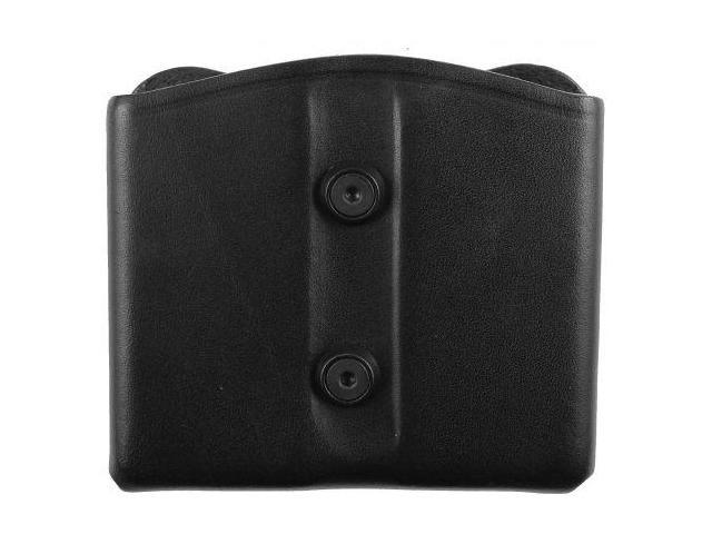 Blackhawk Leather Dual Magazine Pouch, Black, Single Stack