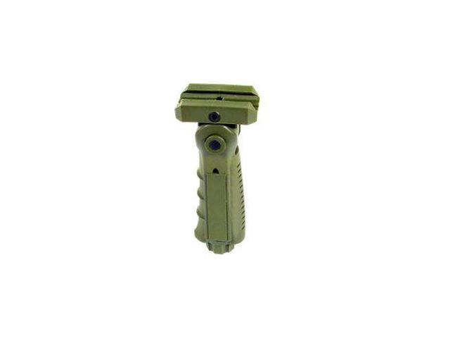 Leapers UTG Ergonomic Ambidextrous 5-position Foldable Foregrip, OD Green RB-FGR