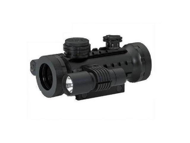 BSA Optics Stealth Tactical Illuminated 1x30 Red/Green/Blue Dot Sight w/Laser &