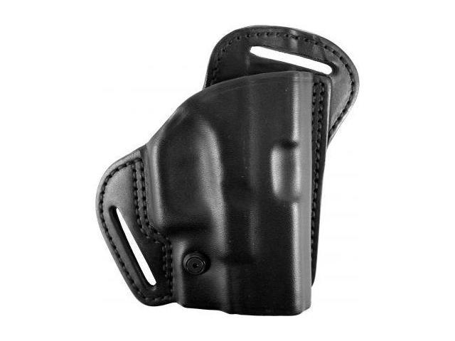 BlackHawk Leather Check-Six Holster, Right Hand, Black - For Glock 26, 27, 33