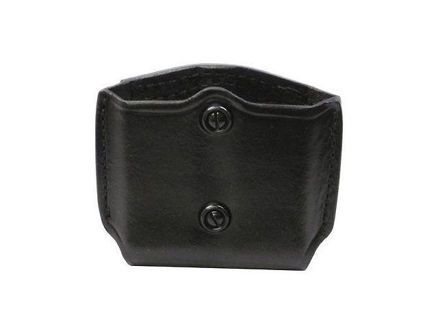 Gould & Goodrich  Double Magazine Case with Belt Loops, Black Leather - Do