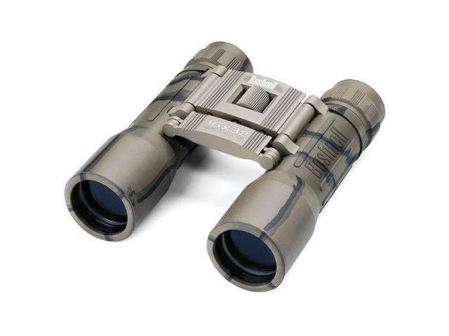 Bushnell Powerview 16x32 Roof Prism BK7 Folding Binoculars, Camo, Clam Pack 1316