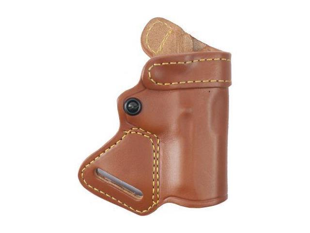 G&G  Small of Back Holster, Chestnut Brown, Right Hand - For Glock 26/27/
