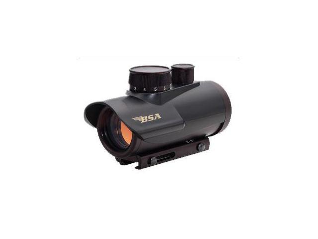 BSA Optics Huntsman 1x30 Illuminated Red/Green/Blue Dot Sight, Matte Black - HMR