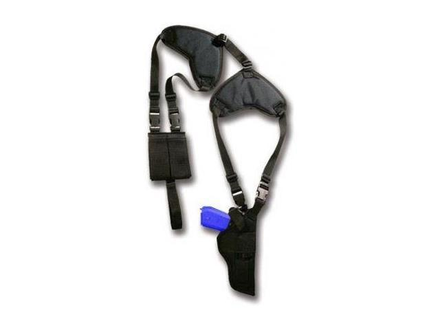 Bulldog Deluxe Shoulder Holster, Vertical w/Double Mag Holder/Speed Loader - Mos