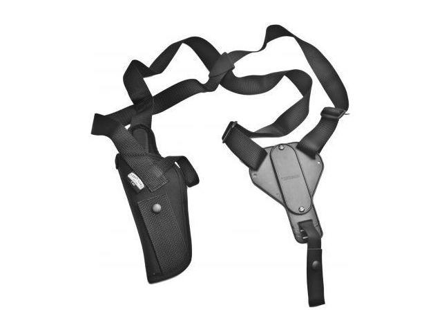 Uncle Mike's Vertical Shoulder Holsters - Black Kodra Nylon - Size 2, Right Hand