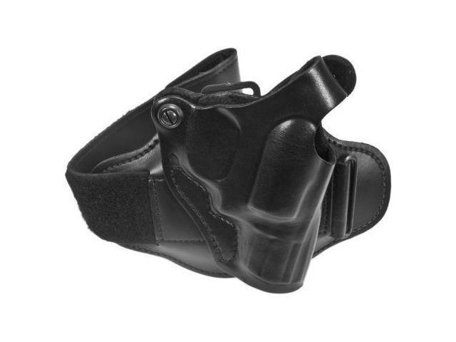 DeSantis Right Hand - Black - Leather Ankle Holster 044BAS1Z0