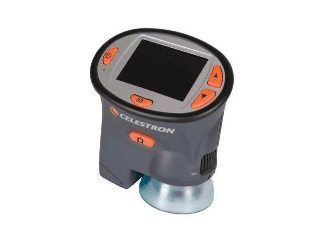 Celestron LCD Handheld Digital Microscope, Gray, 4x Digital Zoom w/ 2.4in LCD Sc