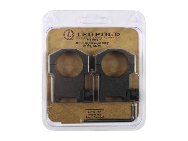 Leupold Mark 4 Riflescope Rings, 30mm Diameter, Super High, Matte Black, Steel 6