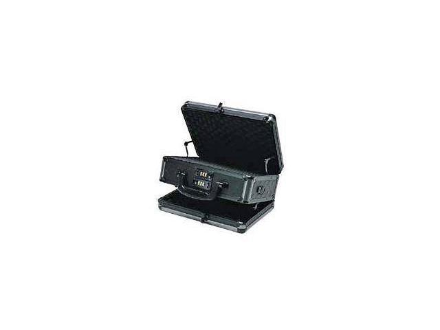 T.Z. Case Ironite Series Alumitech Diamond Plate Black Finish Pistol Case 12.5x9