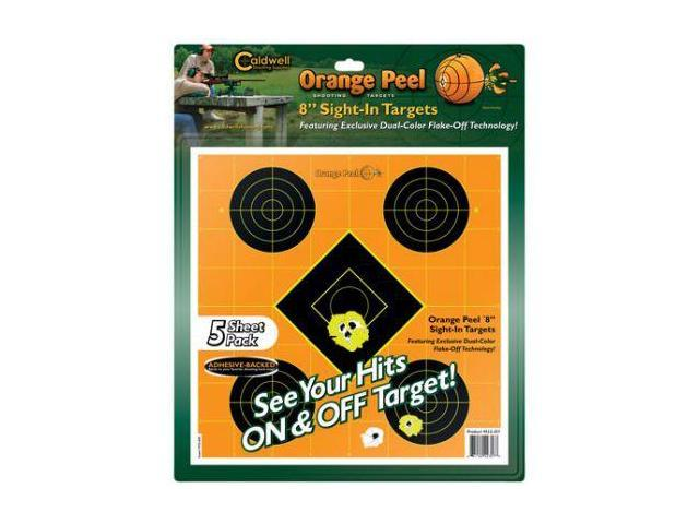 Caldwell Orange Peel Sight-In Target: 8 inch 5 sheets 522357