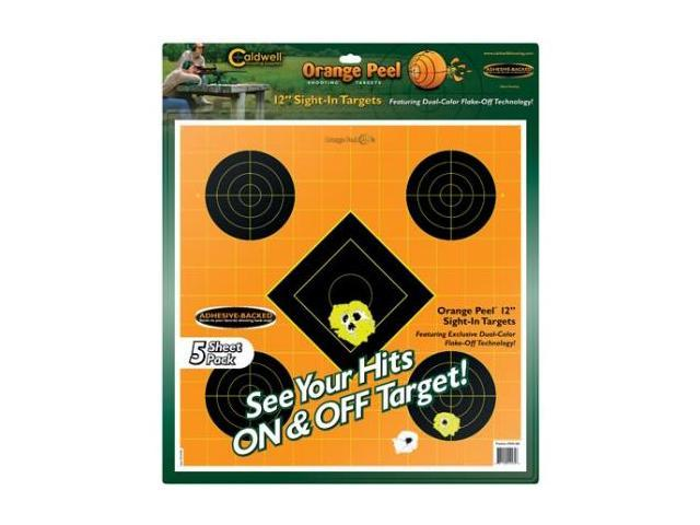 Caldwell Orange Peel Sight-In Target: 12 inch 5 sheets 244561
