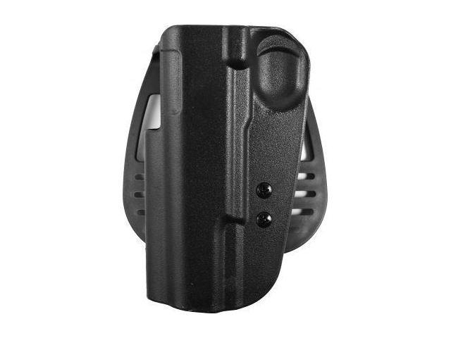 Uncle Mike's Kydex Open Top Paddle Holster, Black, Left Hand - 5-inch BBL 1911 T