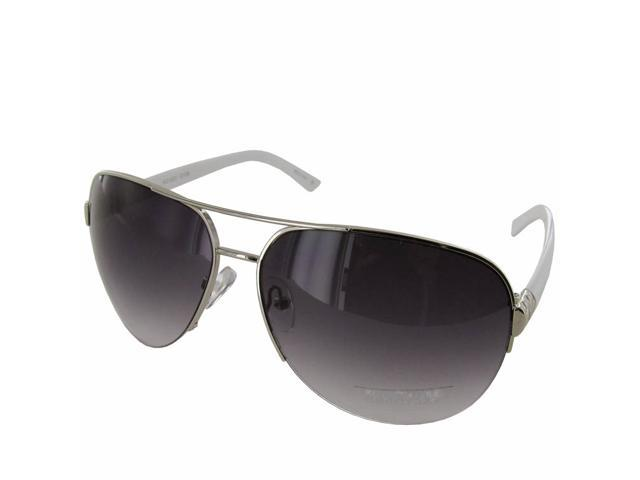 Kenneth Cole Reaction 'KC1223' Half-Rim Aviator Sunglasses