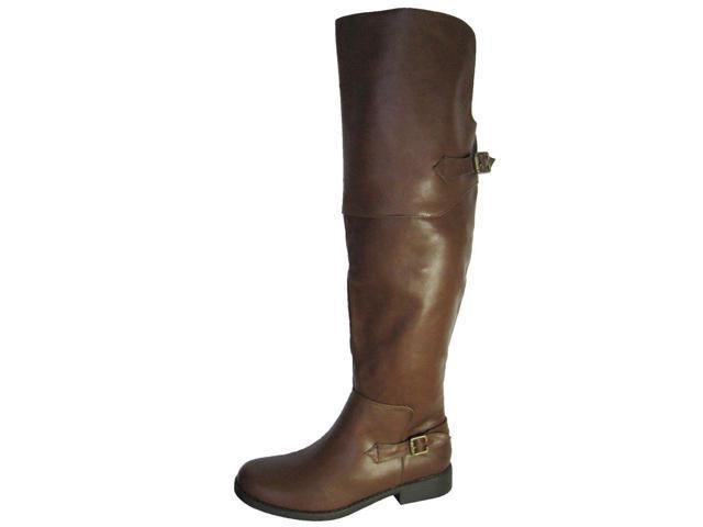 steve madden s olivee thigh high boots cognac