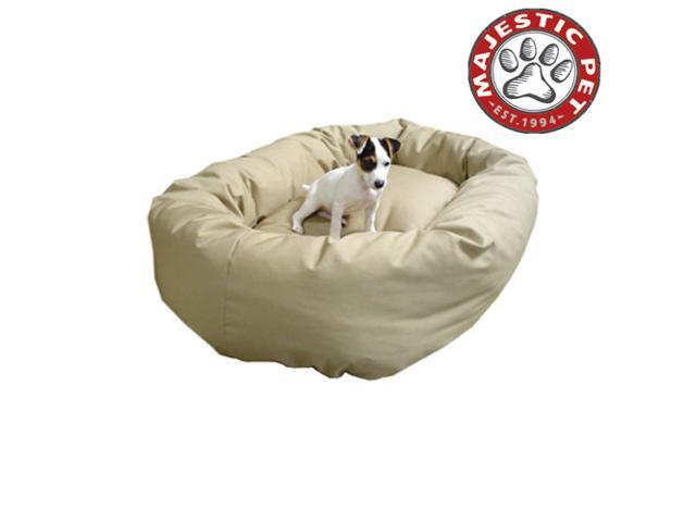 "Majestic Pet Extra Large 52"" Bagel Dog Dog Bed (52""x36""x14"") KHAKI - OEM"