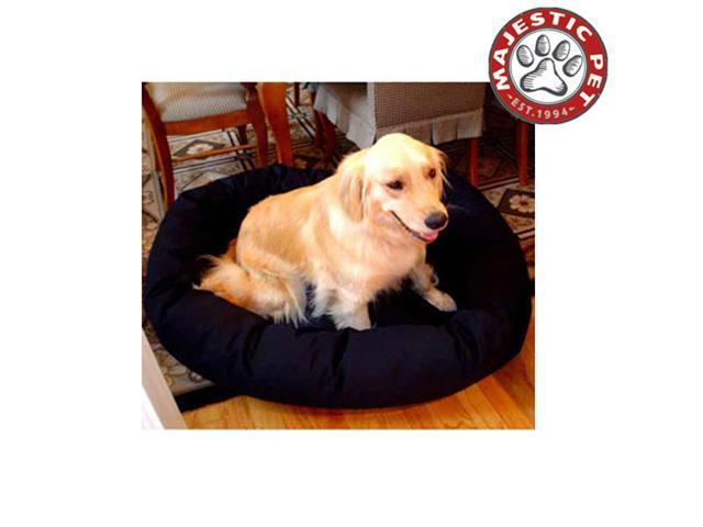 "Majestic Pet Medium 32"" Bagel Dog Bed (32""x28""x10""), Black - OEM"