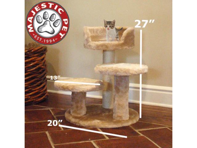 "Majestic Pet 27"" CASITA Cat Tree - Honey Brown FUR - OEM"