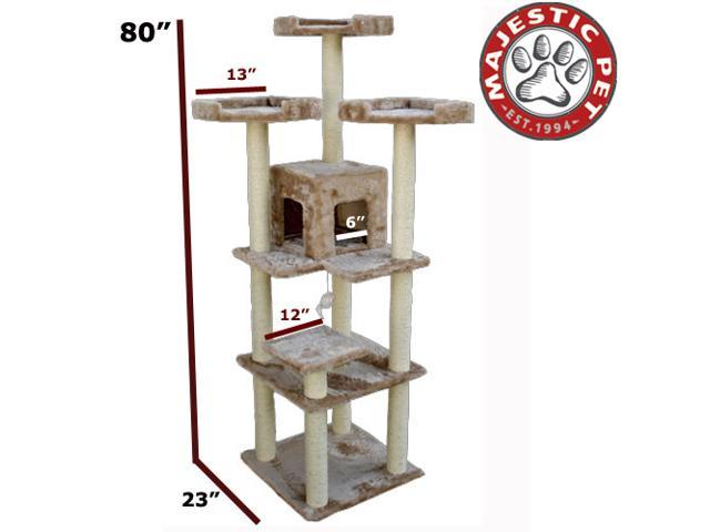 "Majestic Pet 80"" CASITA Cat Tree - Honey Brown FUR - OEM"