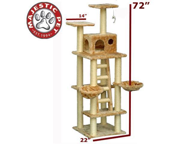 "Majestic Pet 72"" CASITA Cat Tree - Honey Brown FUR - OEM"