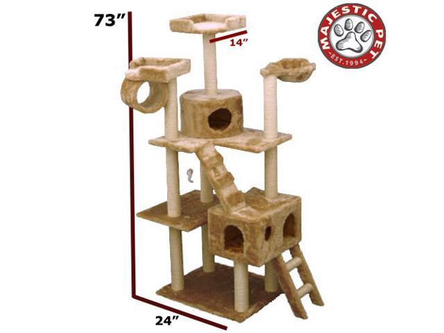 "Majestic Pet 73"" CASITA Cat Tree - Honey Brown FUR - OEM"
