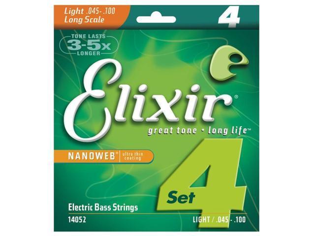 Elixir Nanoweb Bass strings 45-100 Light/Long Scale strings