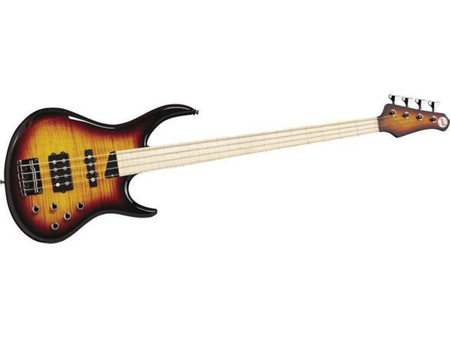 MTD Kingston Heir 4 String Bass Guitar - Tobacco Sunburst, Maple Fretboard