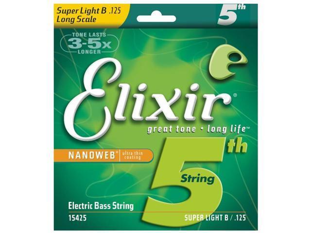 Elixir Bass Super Light/Long B string for 5 & 6 string .125
