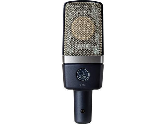 AKG C214 1-Inch Large-Diaphragm Studio Condenser Microphone Mic C-214 NEW