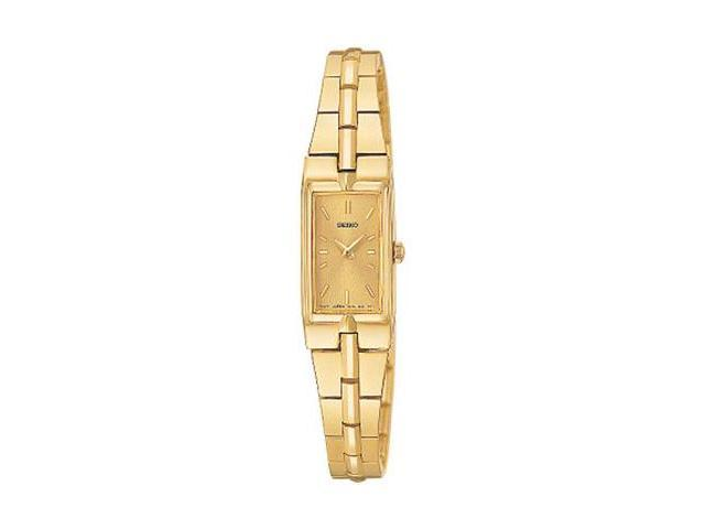 Seiko Dress Gold-tone Champagne Dial Ladies Watch SZZC44
