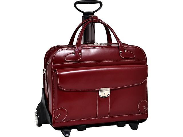 McKlein USA Lakewood -Fly-Through Checkpoint-Friendly Removable Rolling Ladies' Briefcase