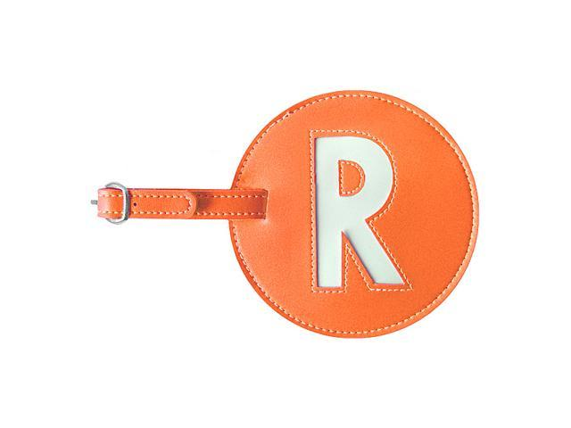 pb travel Leather Initial 'R' Luggage Tag Set of 2