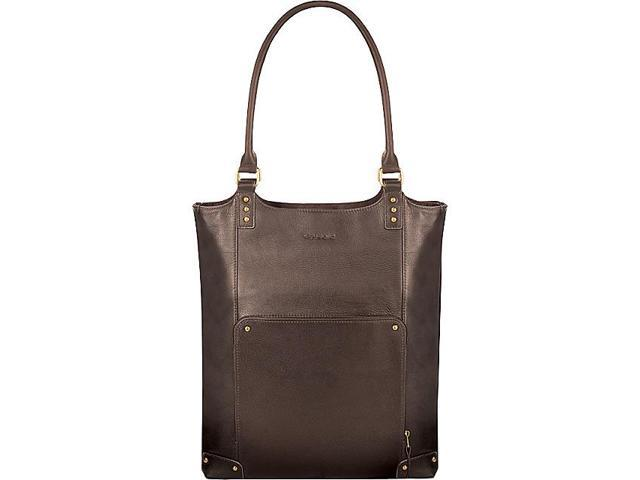 Executive Leather/Poly Bucket Tote 16