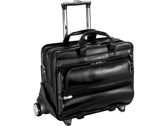 McKlein USA P Series Franklin Leather 17in. Detachable Wheeled Laptop Case